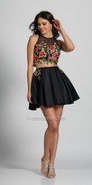 Dave and Johnny Two Piece Floral Embroidered Fit and Flare Party Dress