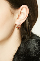 Forever 21 FOREVER 21+ Triangle Rhinestone Ear Jackets