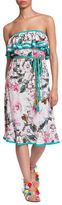 Plenty by Tracy Reese Floral-Print Strapless Dress