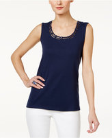 Karen Scott Studded Tank Top, Only at Macy's