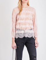 Claudie Pierlot Bardot lace top