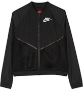 Nike Tech Mesh And Shell Bomber Jacket - Black