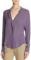 Vince Silk Double Front Blouse