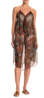 Pool To Party Floral Print Sheer Cover-Up