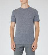 Reiss Reiss Monty - Striped T-shirt In Blue