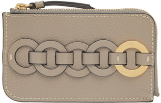 Chloé Grey Small Darryl Card Holder