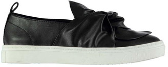 Fabric Bow Slip Ladies Trainers