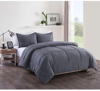 Messy Bed Washed Cotton Comforter Mini Set, Twin