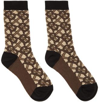Burberry Brown Monogram Socks