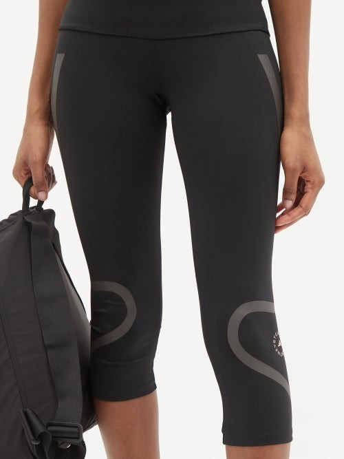 Thumbnail for your product : adidas by Stella McCartney Truepace High-rise 3/4 Leggings - Black