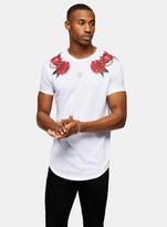 SikSilk White Floral Print T-Shirt