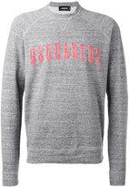 DSQUARED2 logo front sweatshirt - men - Cotton - S