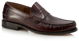 Loake Dark Red Leather Loafers