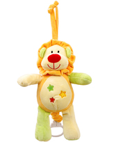 Bue Star Print Baby Lion Pull-String Toy