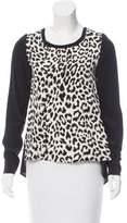 Thakoon Leopard Print Silk Top