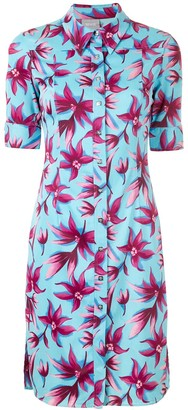 Versace Pre-Owned floral shirt dress