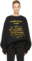 Raf Simons Black Oversized 'Summer Games' Sweatshirt