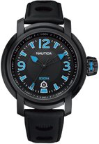 Nautica Men's A17559G Dial Leather Strap Watch