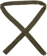 Isabel Marant Black Silk And Brass Beads Studded Tie Long Belt