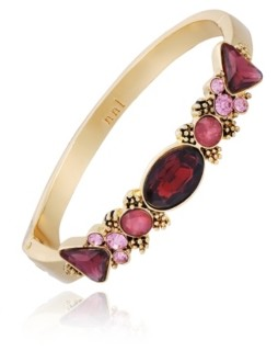 Nanette Lepore Beautifully Berry Hinged Bracelet