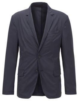 BOSS Slim-fit jacket in stretch fabric with notch lapels