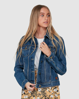 Roxy Womens Tigers Eyes Denim Jacket