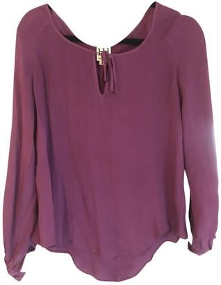 Haute Hippie Purple Silk Top for Women
