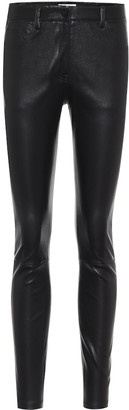 The Row Landly skinny leather pants
