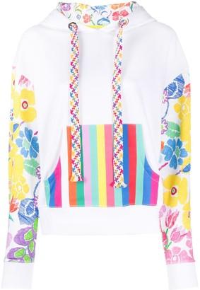 Mira Mikati Rainbow Floral Sleeve hoodie