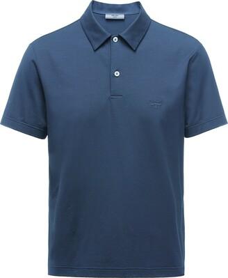 Prada Embroidered Logo Polo Shirt