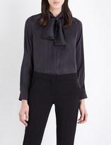 Max Mara Soraia pussybow silk-georgette blouse