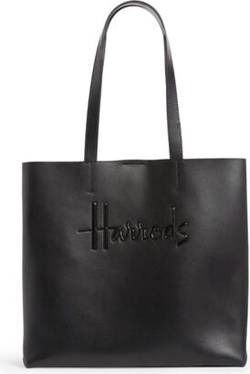 Harrods Medium Leather Kensington Tote Bag