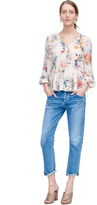 Rebecca Taylor Long Sleeve Meadow Floral Top