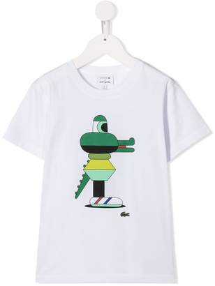 Lacoste Kids x Jeremyville frog print T-shirt