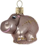 Christmas Shop Glass Hippo Champagne Ornament