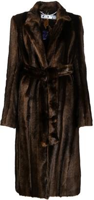 Off-White Faux-Fur Mid-Length Coat