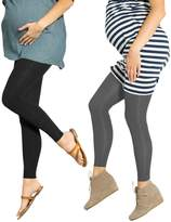 2 Pack Preggers 10-15mmhg Footless Maternity Compression Leggings ( L)