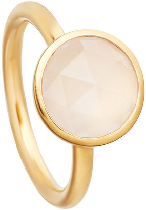 Astley Clarke Stilla 18ct yellow-gold plated moonstone ring, Women's, Size: J, Yellow gold