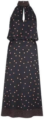 Mint Velvet Navy Spot Halter Midi Dress