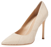 Pour La Victoire Celeste Embossed Leather Pump