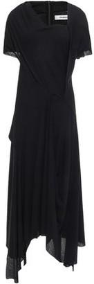 Chalayan Asymmetric Draped Cotton-jersey Midi Dress