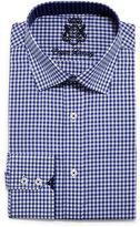 English Laundry Mini-Gingham Check Dress Shirt, Blue