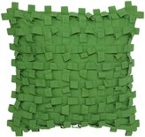 Collier Campbell Pondicherry Textured Pillow, 14 x 14 - Chartreuse - 14 in. x 14 in.