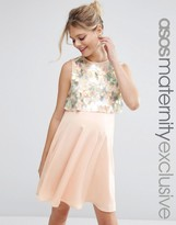 Asos Holographic Sequin Mini Dress