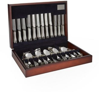 Carrs of Sheffield Silver English Thread Stainless Steel 44-Piece Canteen