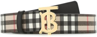 Burberry TB Check Buckle Belt