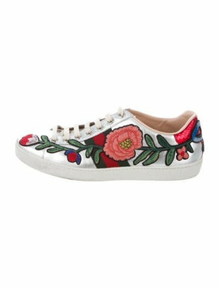 Gucci Ace Low-Top Sneakers Metallic