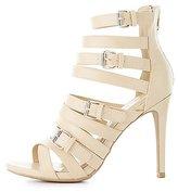 Charlotte Russe Buckled Multistrap Dress Sandals