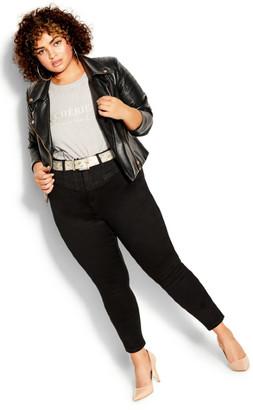 City Chic Harley Sexy Corset Jean - black