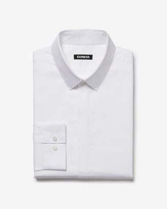 Express Extra Slim Basic Tuxedo Dress Shirt